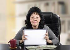 Советник психических здоровий с пустой страницей Стоковая Фотография
