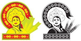 советская женщина иллюстрация штока