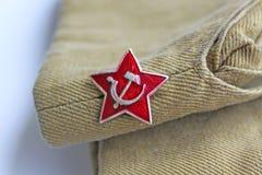 Советская звезда красного цвета simvol стоковая фотография