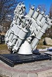 Советская ракетная пусковая установка корабля. Калининград, Россия Стоковое фото RF