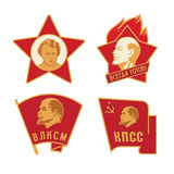 Советские значки Стоковая Фотография