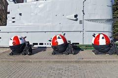 Советские подводные шахты анкера. Калининград (до Koenigsberg 1946), Россия Стоковые Фото