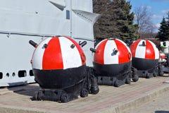 Советские подводные шахты анкера. Калининград (до Koenigsberg 1946), Россия Стоковая Фотография RF