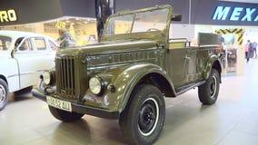 Советские ретро автомобили GAZ 69 видеоматериал