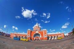 Советский вокзал с шинами Стоковое Фото