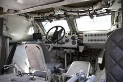 Советский интерьер военного транспортного средства Стоковая Фотография RF