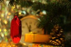 Советский кристалл рубина игрушки рождества Стоковое Изображение RF