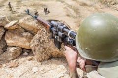 Советский парашютист в Афганистане Стоковые Фотографии RF