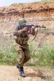 Советский парашютист в Афганистане Стоковые Изображения