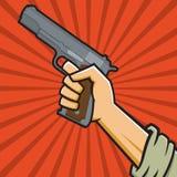 Советский пистолет иллюстрация вектора