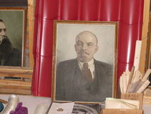 Советский портрет Ленина Стоковая Фотография