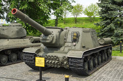 Советский разоритель танка ISU-152 Стоковое фото RF