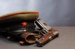 Советское оборудование офицера армии Стоковое фото RF
