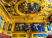 Совет Palazzo Дукале Doge& x27 потолка грандиозный; дворец Венеция Италия s Стоковое Изображение RF