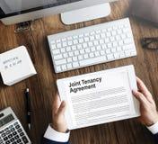 Совместное свойство договора аренды арендуя концепцию имущества стоковые изображения