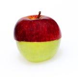 совмещенное яблоко halves 2 Стоковое Фото