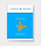Современная абстрактная брошюра с стрелкой иллюстрация штока