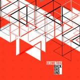 Современная абстрактная геометрическая красная предпосылка для Стоковые Фото