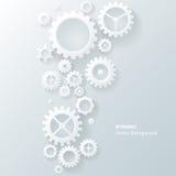 Современная абстрактная промышленная предпосылка шестерни Стоковая Фотография RF