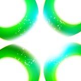 Современная абстрактная свежая рамка кривых цветов Стоковые Изображения