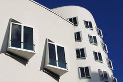 Современная архитектура, гавань средств массовой информации в Дюссельдорфе Стоковая Фотография
