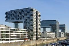 Современная архитектура, горизонт Рейна, Кёльн Стоковое фото RF