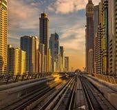 Современная архитектура Дубай Стоковые Фотографии RF