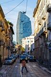 Современная архитектура, офисное здание в милане Италия 05 05,2017 Стоковое Фото