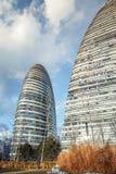 Современная архитектура Wangjing SOHO ориентир ориентира, фарфор 2 Пекина Стоковые Изображения