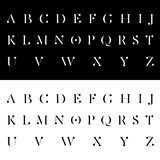 Современная алфавитная иллюстрация вектора шрифтов Стоковое фото RF