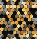 Современная безшовная картина предпосылки шестиугольников multicolor абстрактной геометрической Стоковое фото RF