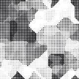 Современная безшовная картина с полутоновым изображением перехода точек Стоковое Изображение RF