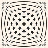 Современная безшовная текстура с квадратами, протягиванными кубическими формами Влияние обмана зрения бесплатная иллюстрация