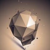 Современная бронза techno, несимметричная конструкция Стоковое Фото
