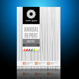 Современная брошюра, шаблон дизайна годового отчета Стоковое Изображение