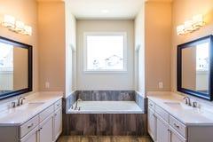 Современная ванная комната с выдерживая ушатом Стоковое Изображение