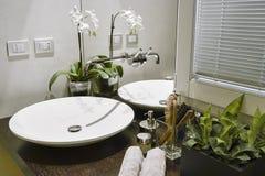 Современная ванная комната стоковое изображение