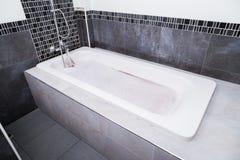 Современная ванна с жемчужной ванной Стоковое Изображение