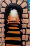 Современная дверь металла с краской красивая винтажная предпосылка Стоковое фото RF