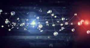 Современная виртуальная предпосылка технологии Мультимедиа Стоковые Изображения