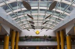 Современная внутренняя архитектура в библиотеке Стоковые Фотографии RF
