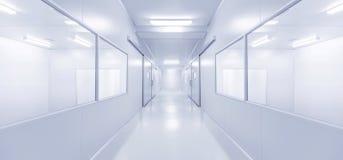 Современная внутренняя предпосылка лаборатории или фабрики науки Стоковая Фотография