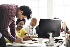 Современная вскользь концепция поддержки корпоративного офиса Стоковое Фото