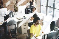 Современная вскользь концепция поддержки корпоративного офиса Стоковое Изображение