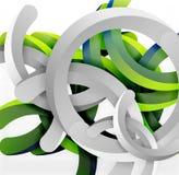 Современная геометрическая предпосылка стиля 3d, сгабривает круговые линии Стоковая Фотография RF