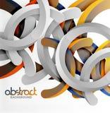 Современная геометрическая предпосылка стиля 3d, сгабривает круговые линии Стоковые Изображения