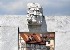 Современная городская скульптура в Bietigheim, Бадене-Wurttemberg Стоковые Фото