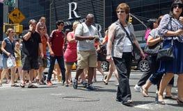 Современная городская сцена улицы Стоковая Фотография