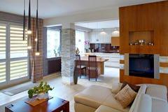Современная гостиная Стоковое фото RF