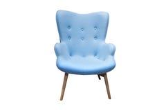 Современная голубая изолированная мебель стоковое фото rf